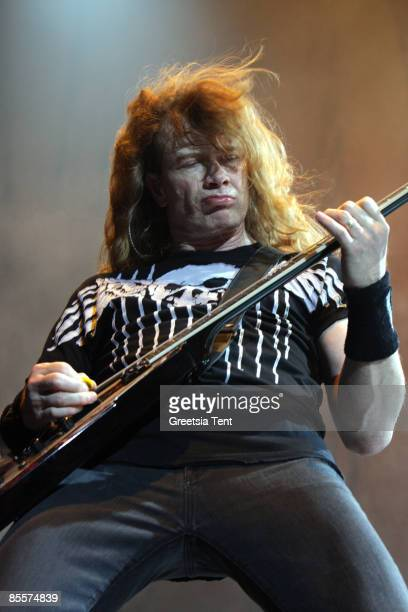 Dave Mustaine of Megadeth performs live at Heineken Music Hall on March 23 2009 in Amsterdam Netherlands