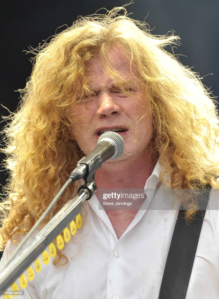 Dave Mustaine of Megadeth performs on Day 1 of Monster Energy Aftershock Festival at Discovery Park on September 14, 2013 in Sacramento, California.