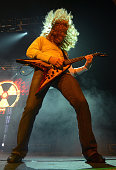 Dave Mustaine of Megadeth performs on stage at Brixton Academy on June 6 2013 in London England