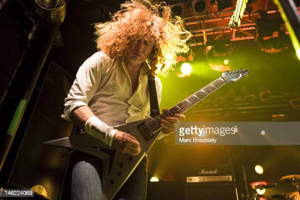 Dave Mustaine of Megadeth performs on stage at Electric Ballroom on June 12 2012 in London United Kingdom