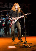 Dave Mustaine of Megadeth performs on stage at the Murat Egyptian Room on September 21 2007 in Indianapolis Indiana