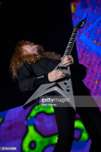Dave Mustaine of Megadeth performs on stage at Wembley Arena London 14th November 2015