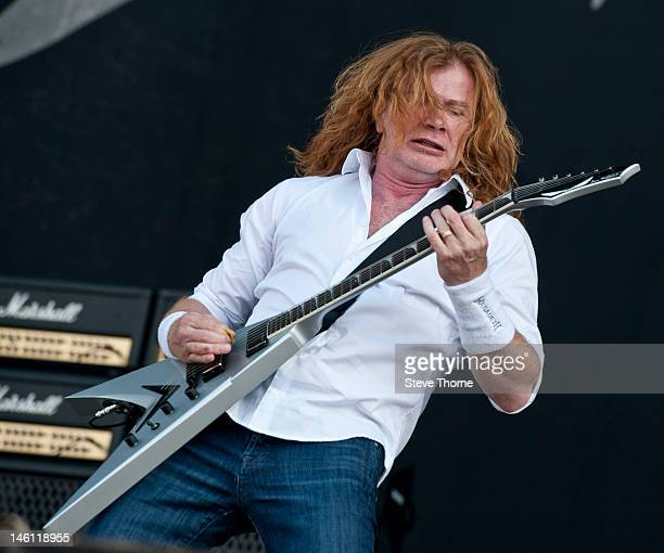 Dave Mustaine of Megadeth performs on stage during Download Festival at Donington Park on June 10 2012 in Castle Donington United Kingdom
