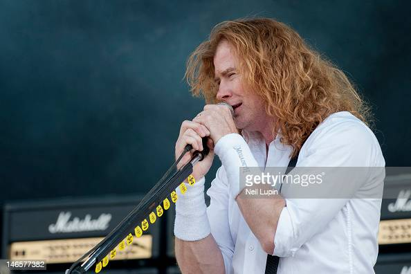 Dave Mustaine of Megadeth performs on stage during the Download Festival at Donington Park on June 10 2012 in Castle Donington United Kingdom