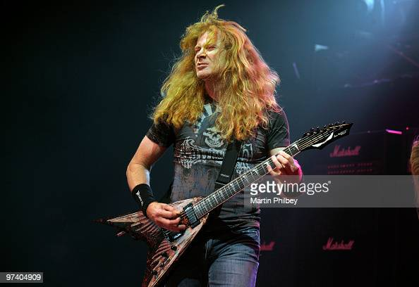 Dave Mustaine of Megadeth performs on stage in concert at the Festival Hall on October 9 2009 in Melbourne Australia