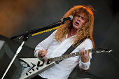Dave Mustaine of Megadeth performs on the Maurice Jones stage on Day 2 of Download Festival on June 12 2010 in Donington England