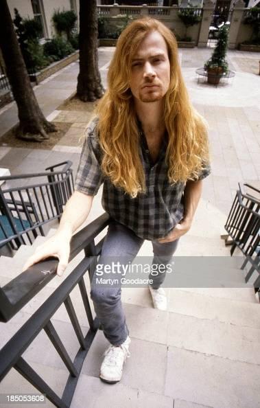 Dave Mustaine of Megadeth portrait London United Kingdom 1990