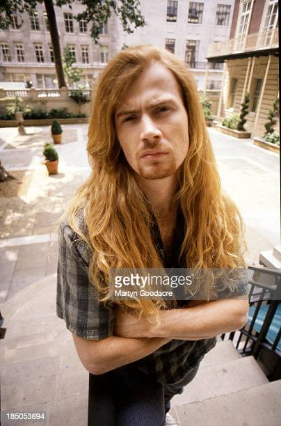 Dave Mustaine of Megadeth portrait London United Kingdom 1990