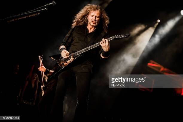 Dave Mustaine of the american heavy metal band Megadeth performing live at Carroponte Sesto San Giovanni Italy on 8 August 2017