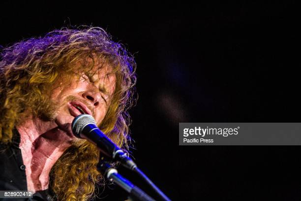 Dave Mustaine of the american heavy metal band Megadeth pictured on stage as the perform live at Carroponte Milan Italy