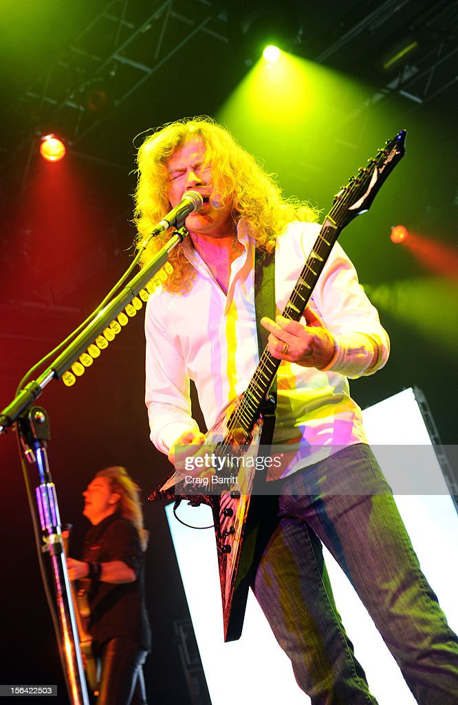 Dave Mustaine of the band Megadeth performs at Best Buy Theatre on November 14, 2012 in New York City.