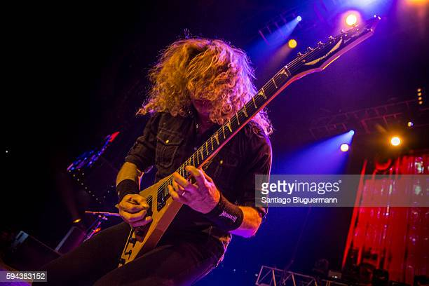 Dave Mustaine performs during Megadeth as part of Dystopia World Tour at Luna Park on August 22 2016 in Buenos Aires Argentina