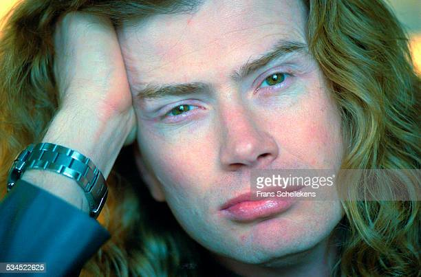 Dave Mustaine poses on February 27th 2001 in Amsterdam Netherlands