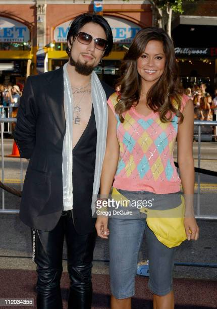 Dave Navarro and Brooke Burke during 'Batman Begins' Los Angeles Premiere Arrivals at Chinese Theatre in Los Angeles California United States