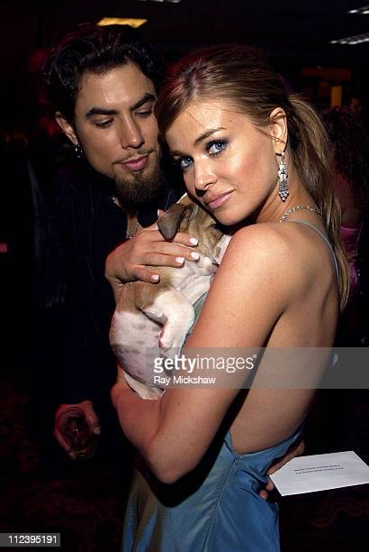 Dave Navarro and Carmen Electra during 11th Annual Race to Erase MS Silent Auction at Century Plaza Hotel in Century City California United States