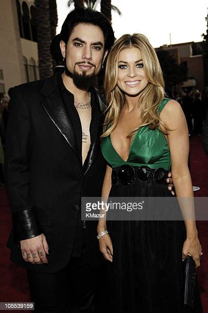 Dave Navarro and Carmen Electra during 33rd Annual American Music Awards Red Carpet at Shrine Auditorium in Los Angeles California United States