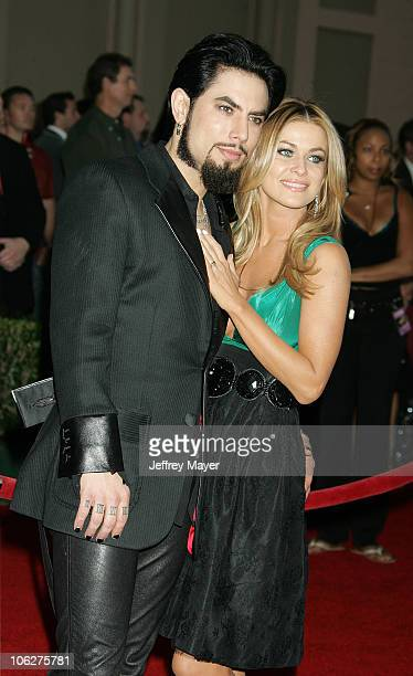 Dave Navarro and Carmen Electra during 33rd Annual American Music Awards Arrivals at Shrine Auditorium in Los Angeles California United States