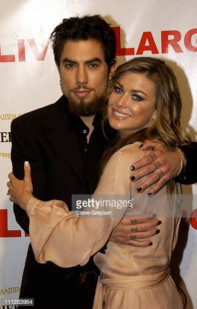 Dave Navarro and Carmen Electra during Carmen Electra and Dave Navarro Engagement Party at The Pacific Design Center in West Hollywood California...
