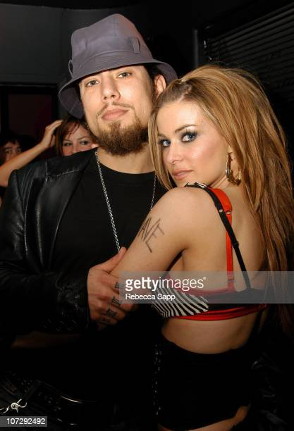 Dave Navarro and Carmen Electra during Carmen Electra and Samaire Armstrong Perform with The Pussycat Dolls at the Viper Room at The Viper Room in...