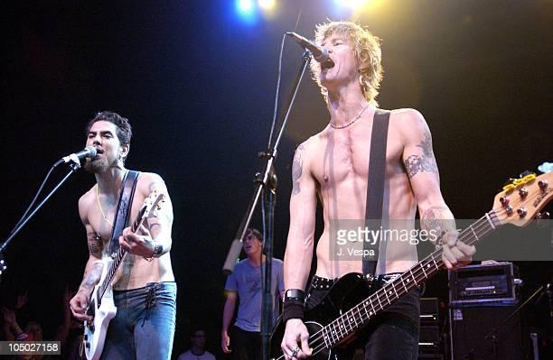 Dave Navarro and Duff McKagan during Playstation 2 Presents The PS2 Tour Camp Freddy with Surprise Guests at Henry Fonda Theatre in Hollywood...