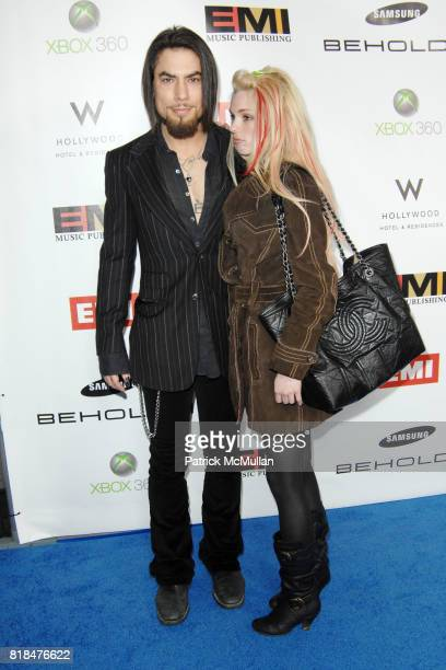 Dave Navarro and Nicole Bennett attend EMI POSTGRAMMY PARTY AT THE NEW W HOLLYWOOD HOTEL at The W Hollywood on January 31 2010 in Hollywood California