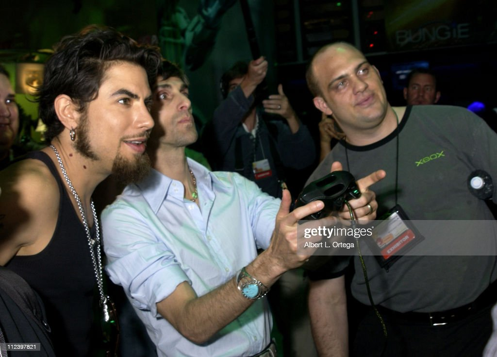 Dave Navarro and Perry Farrell during E3, Interactive Digital Software Association's 'Electronic Entertainment Expo 2003' - Day 3 at Los Angeles Convention Center in Los Angeles, California, United States.