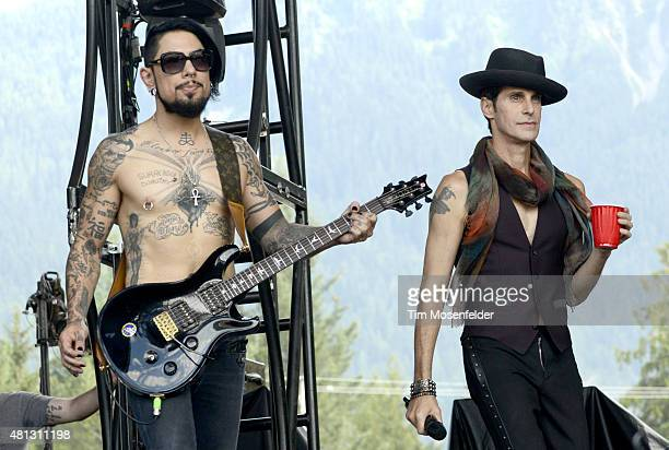 Dave Navarro and Perry Farrell of Jane's Addiction perform during the Pemberton Music Festival on July 18 2015 in Pemberton Canada