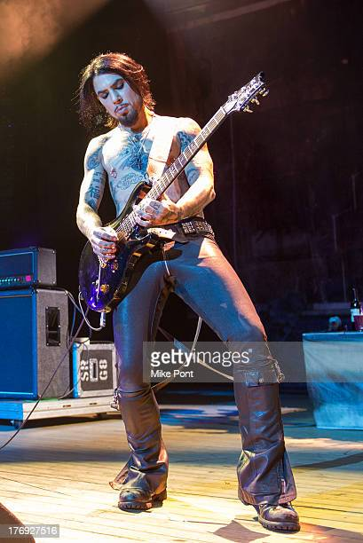 Dave Navarro of Jane's Addiction performs during the 2013 Rockstar Energy UPROAR Festival at Nikon at Jones Beach Theater on August 18 2013 in...