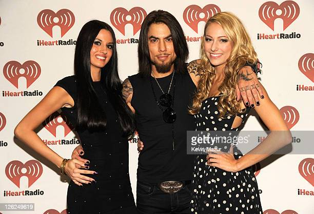 Dave Navarro poses backstage at the iHeartRadio Music Festival held at the MGM Grand Garden Arena on September 23 2011 in Las Vegas Nevada