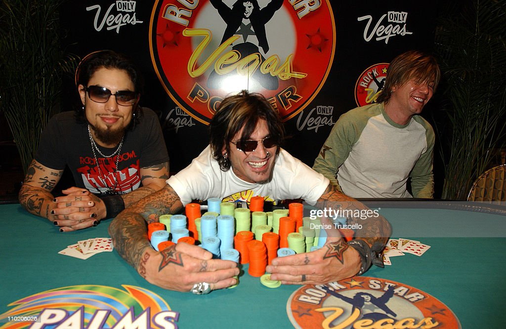 Dave Navarro Tommy Lee and Johnny Rzeznik during LVCVA Hosts Vegas Rock Star Poker At The Palms Casino Resort at The Palms Hotel and Casino Resort in...