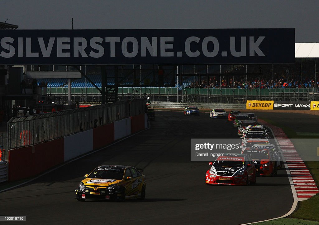 Dave Newsham of Great Britain drives the #17 Team ES Racing Vauxhall Vectra during the Dunlop MSA British Touring Car Championship race at the Silverstone Circuit on October 7, 2012 in Towcester, United Kingdom.