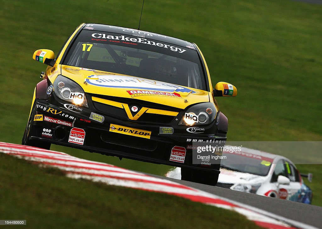 Dave Newsham of Great Britain drives the #17 Team ES Racing Vauxhall Vectra during practice for the Dunlop MSA British Touring Car Championship race at the Brands Hatch Circuit on October 20, 2012 near Longfield, United Kingdom.