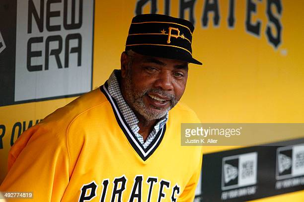 Dave Parker of the 1979 World Champion Pittsburgh Pirates looks on before interleague play between the Pittsburgh Pirates and the Baltimore Orioles...