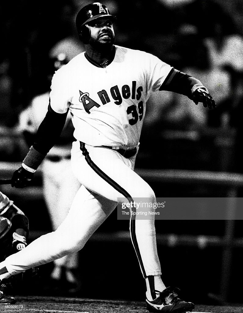 Dave Parker of the California Angels bats circa 1991