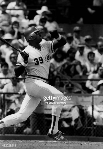 Dave Parker of the Cincinnati Reds bats circa 1980s