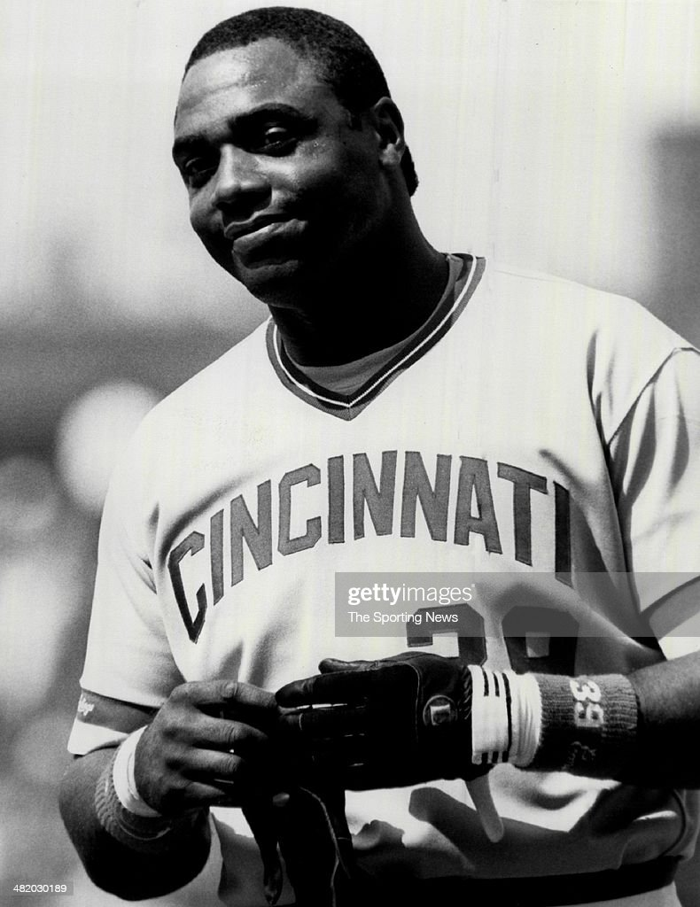 Dave Parker of the Cincinnati Reds reacts circa 1980s