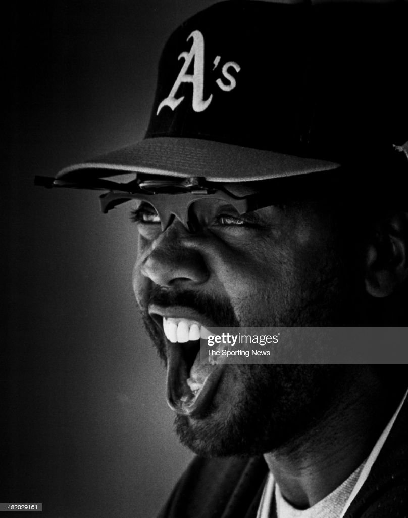 Dave Parker of the Oakland Athletics yells circa 1980s