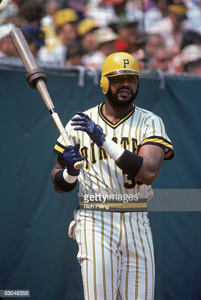 Dave Parker of the Pittsburgh Pirates prepares to bat during an MLB game at Three River Stadium in Pittsburgh Pennsylvania
