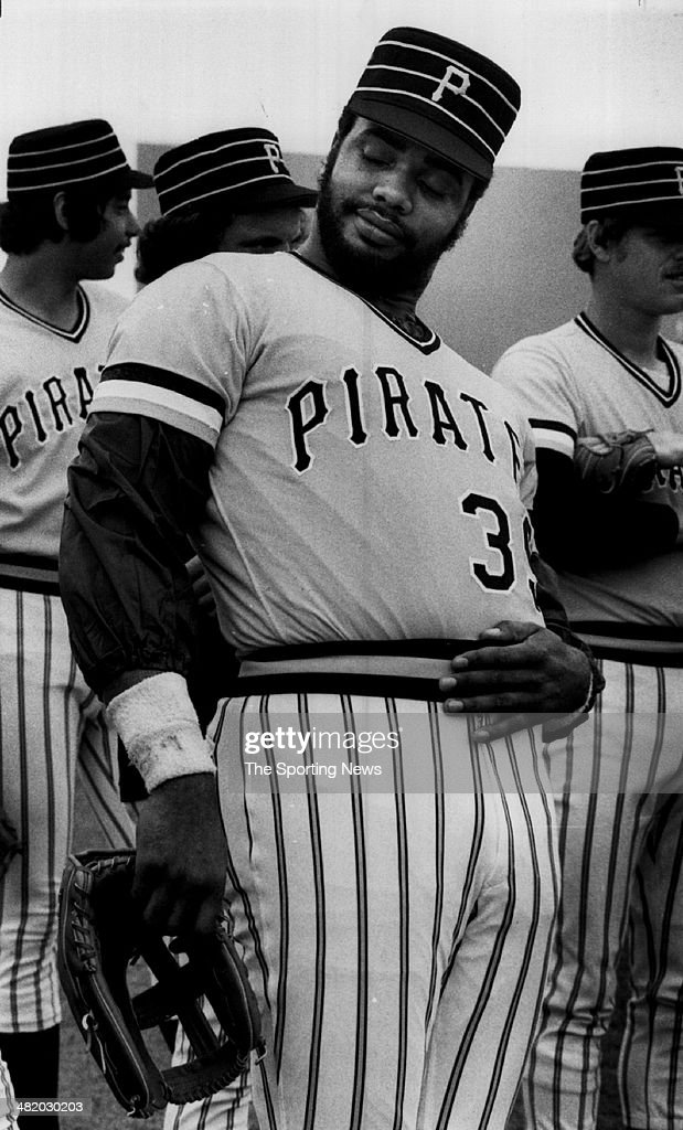 Dave Parker of the Pittsburgh Pirates stretches circa 1980s