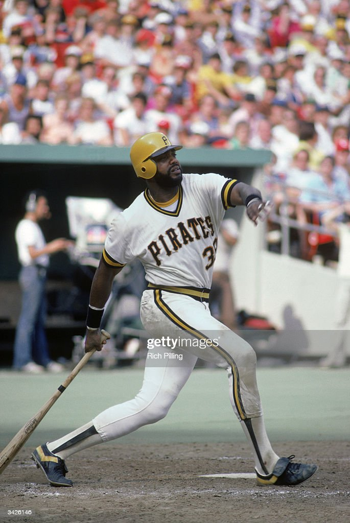 Dave Parker of the Pittsburgh Pirates swings during a 1980 season game