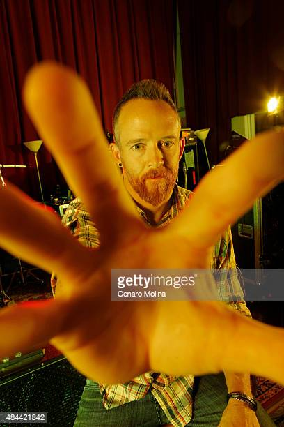 Dave 'Phoenix' Farrell of musical group Linkin Park is photographed for Los Angeles Times on May 15 2014 in North Hollywood California