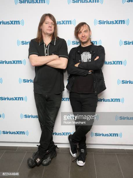 Dave Pirner and Justin Sharbono of Soul Asylum visit at SiriusXM Studios on July 25 2017 in New York City