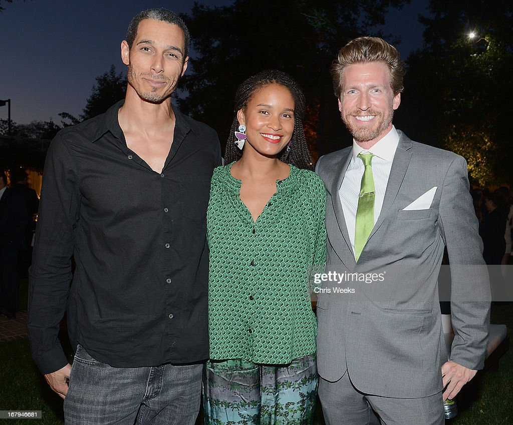 Dave Pope, <a gi-track='captionPersonalityLinkClicked' href=/galleries/search?phrase=Joy+Bryant&family=editorial&specificpeople=207047 ng-click='$event.stopPropagation()'>Joy Bryant</a> and <a gi-track='captionPersonalityLinkClicked' href=/galleries/search?phrase=Josh+Meyers+-+Actor&family=editorial&specificpeople=12906216 ng-click='$event.stopPropagation()'>Josh Meyers</a> attend the Communities In Schools 'School Life' Gala at a Private Residence on May 2, 2013 in Beverly Hills, California.