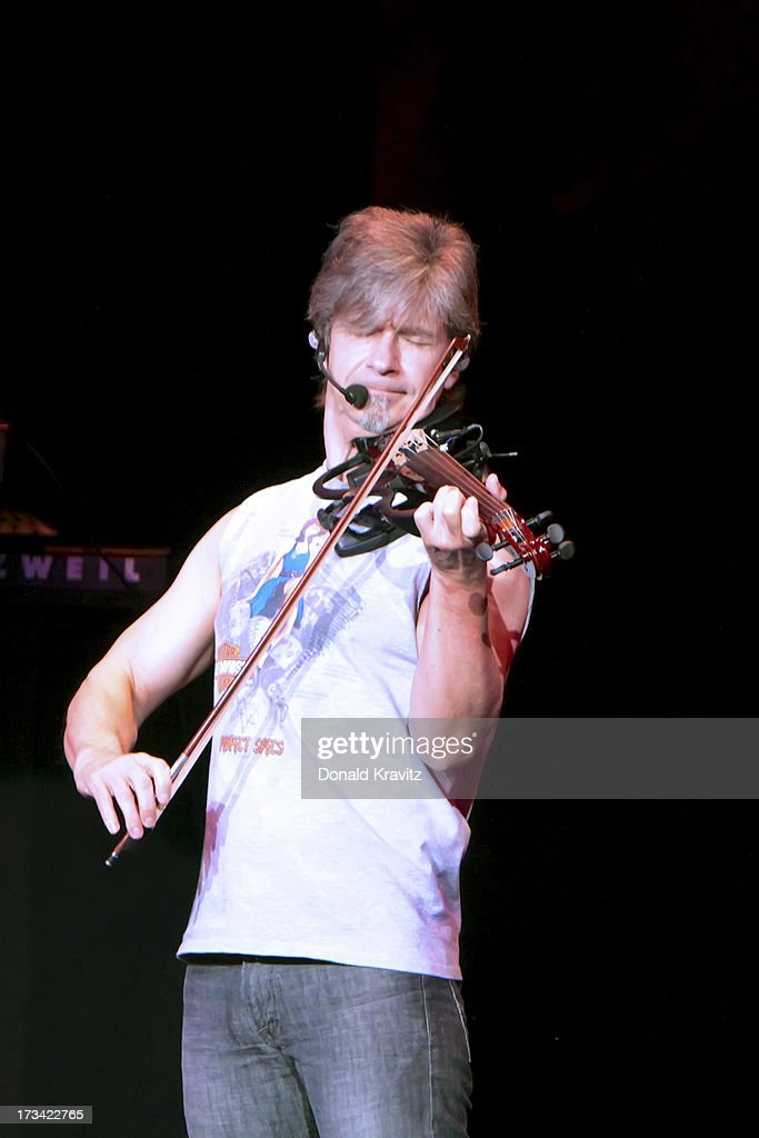 Dave Ragsdale, violinist for Kansas performs at Tropicana Showroom on July 13, 2013 in Atlantic City, New Jersey.
