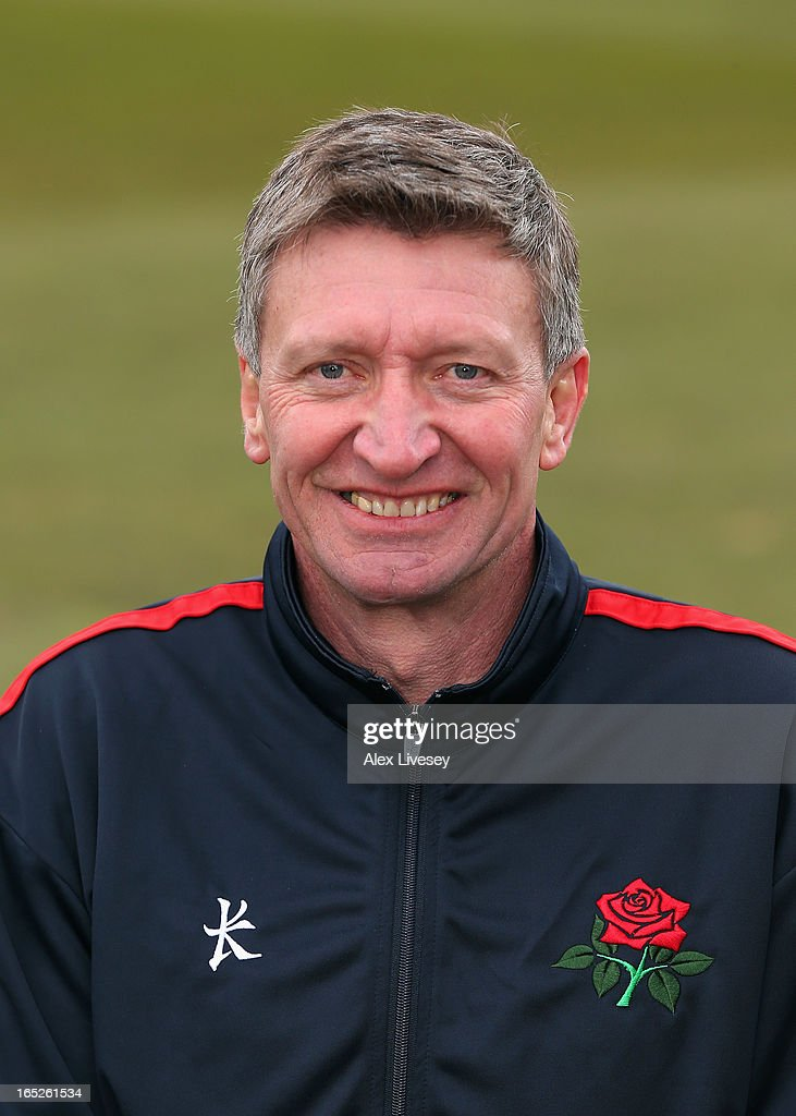 Dave Roberts the Head Physiotherapist of Lancashire CCC during a pre-season photocall at Old Trafford on April 2, 2013 in Manchester, England.