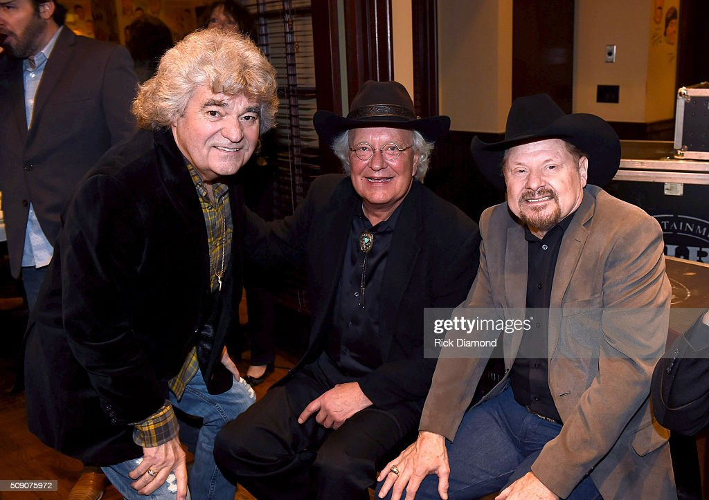 Dave Rowland, Rex Allen, Jr., and <a gi-track='captionPersonalityLinkClicked' href=/galleries/search?phrase=Moe+Bandy&family=editorial&specificpeople=5292785 ng-click='$event.stopPropagation()'>Moe Bandy</a> attend the 2nd Annual Legendary Lunch presented by Webster Public Relations and CMA at The Palm Restaurant on February 8, 2016 in Nashville, Tennessee.