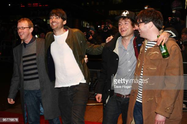 Dave Rowntree Alex James Damon Albarn and Graham Coxon of Blur attend the world premiere of 'No Distance Left To Run' a documentary film about Blur...
