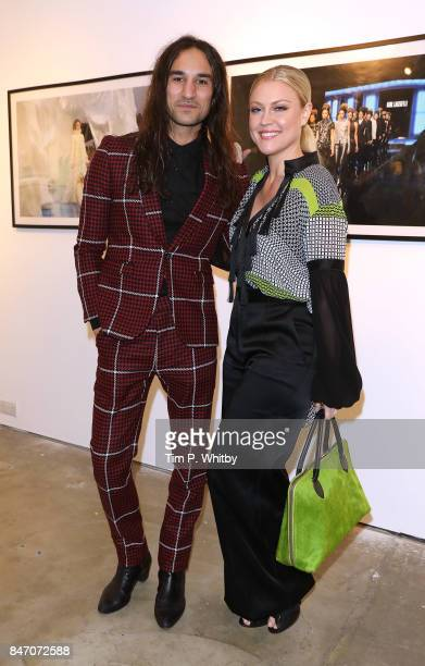 Dave Rudd and Camilla Kerslake attend the 'A Front Row Seat' photography exhibition by Kirstin Sinclair at The Subculture Archives on September 14...
