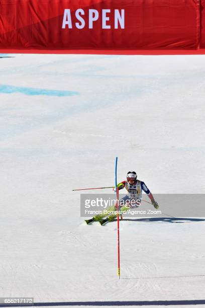 Dave Ryding of Great Britain competes during the Audi FIS Alpine Ski World Cup Finals Women's Giant Slalom and Men's Slalom on March 19 2017 in Aspen...