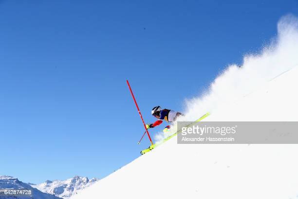 Dave Ryding of Great Britain competes in the first run for the Men's Slalom during the FIS Alpine World Ski Championships on February 19 2017 in St...